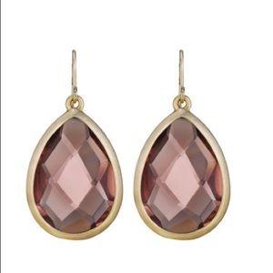 Blush minaret drop earrings